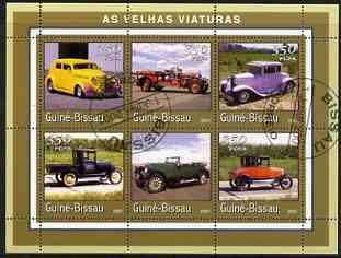 Guinea - Bissau 2001 Classic Cars perf sheetlet containing 6 values cto used