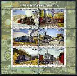 Mauritania 2003 Classic Locomotives perf sheetlet containing 6 values cto used
