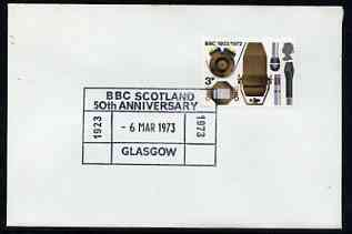 Postmark - Great Britain 1973 cover bearing special cancellation for 50th Anniversary BBC Scotland