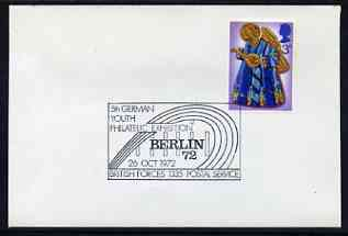 Postmark - Great Britain 1972 cover bearing illustrated cancellation for 5th German Youth Philatelic Exhibition, Berlin (BFPS)
