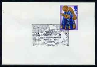 Postmark - Great Britain 1972 cover bearing illustrated cancellation for Grimsby Town FC Division 4 Champions