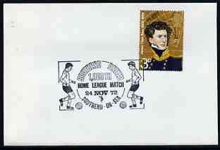 Postmark - Great Britain 1972 cover bearing illustrated cancellation for Southend United FC 1,000th Home League Match