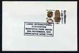 Postmark - Great Britain 1972 cover bearing special cancellation for Lions International Convention, Newcastle Upon Tyne