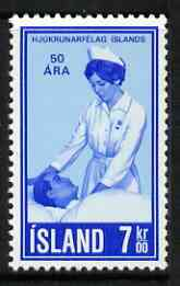 Iceland 1970 50th Anniversary of Icelandic Nurses Association 7k unmounted mint, SG 475*