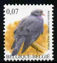 Belgium 2002-09 Birds #5 Stock Dove 0.07 Euro unmounted mint, SG 3694
