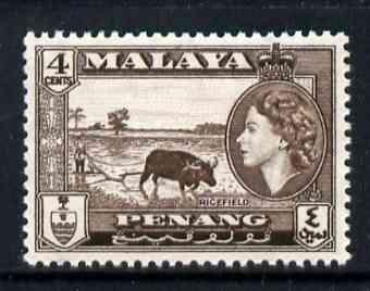 Malaya - Penang 1957 Ricefield 4c (from def set) unmounted mint, SG 46*