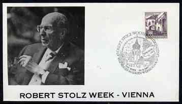 Postmark - Austria 1980 illustrated cover for Robert Stoltz week with special cancellation
