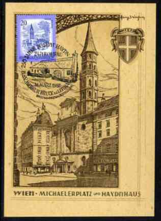 Austria 1982 illustrated postcard honouring Joseph Haydn with special birthplace cancellation