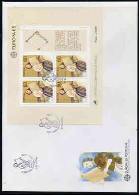 Portugal 1985 v perf m/sheet on Illustrated cover with special first day cancel