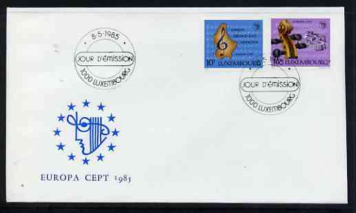 Luxembourg 1985 Europa - Music Year perf set of 2 on Illustrated cover with special first day cancel