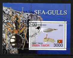 Timor (East) 2001 Sea Gulls (Insect in margin) perf m/sheet cto used