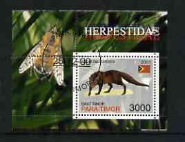 Timor (East) 2001 Mongoose (Bee in margin) perf m/sheet cto used