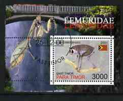 Timor (East) 2001 Lemur (Insect in margin) perf m/sheet cto used
