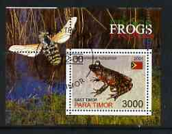 Timor (East) 2001 Frogs (Bee in margin) perf m/sheet cto used