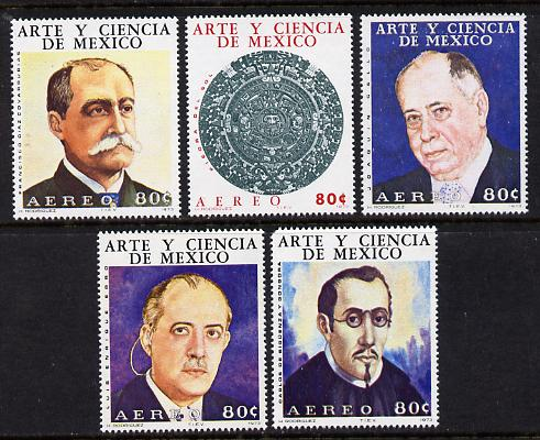 Mexico 1973 Arts & Sciences #3 (Astronomers) set of 5 unmounted mint (SG 1284-8)