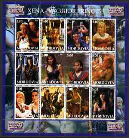 Mordovia Republic 2002 Xena - Warrior Princess #3 perf sheetlet containing set of 12 values unmounted mint