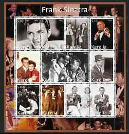 Karelia Republic 2002 Frank Sinatra #1 perf sheetlet containing set of 12 values unmounted mint