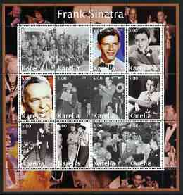 Karelia Republic 2002 Frank Sinatra #2 perf sheetlet containing set of 12 values unmounted mint