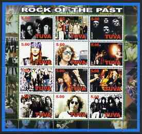 Touva 2002 Rock of the Past #2 perf sheetlet containing set of 12 values unmounted mint