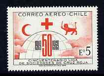 Chile 1969 League of Red Cross Societies 5E (Airmail) unmounted mint, SG 616*
