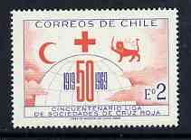 Chile 1969 League of Red Cross Societies 2E (Postage) unmounted mint, SG 615*