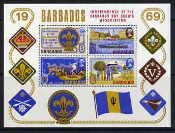 Barbados 1969 Scout Association perf m/sheet (only 13,000 produced) unmounted mint SG MS 397