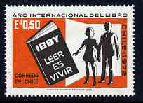 Chile 1972 International Book Year unmounted mint, SG 701*