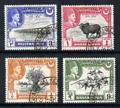 Bahawalpur 1949 S Jubilee of Accession set of 4 very fine used, SG 39-42, stamps on irrigation, stamps on environment, stamps on textiles, stamps on civil engineering, stamps on agriculture, stamps on farming, stamps on food, stamps on , stamps on  kg6 , stamps on , stamps on wheat, stamps on bovine
