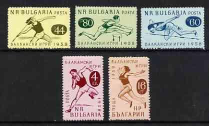 Bulgaria 1958 Balkan Games perf set of 5 unmounted mint, SG 1118-22