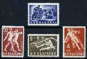 Bulgaria 1949 Physical Culture perf set of 4 unmounted mint, SG 756-59*
