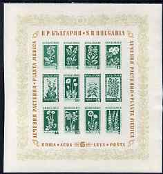 Bulgaria 1953  Medicinal Flowers imperf m/sheet unmounted mint, SG MS931a