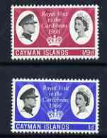 Cayman Islands 1966 Royal Visit perf set of 2 unmounted mint, SG 192-93