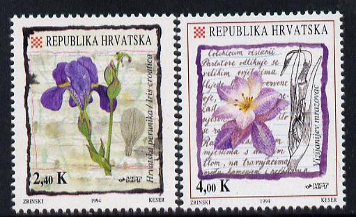 Croatia 1994 Flowers set of 2 unmounted mint SG 277-8
