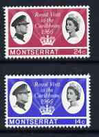 Montserrat 1966 Royal Visit perf set of 2 unmounted mint, SG 183-84