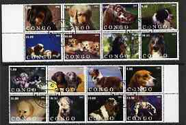 Congo 2002 Dogs #02 perf set of 16 cto used