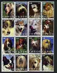 Congo 2002 Dogs #03 perf set of 16 cto used