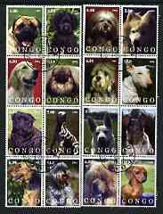 Congo 2002 Dogs #04 perf set of 16 cto used