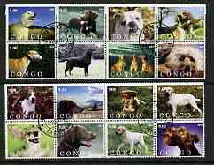 Congo 2003 Dogs #01 perf set of 16 cto used