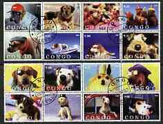 Congo 2003 Dogs #02 perf set of 16 cto used