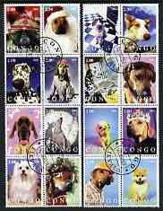 Congo 2003 Dogs #03 perf set of 16 cto used