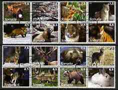 Somalia 2002 Wild Animals #02 perf set of 16 cto used