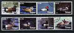 Timor 2003 Ducks perf set of 8 cto used