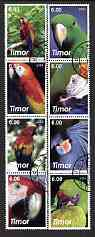 Timor 2003 Parrots perf set of 8 cto used