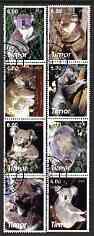 Timor 2003 Koala Bears perf set of 8 cto used