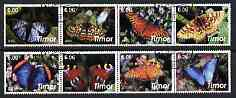 Timor 2003 Butterflies perf set of 8 cto used