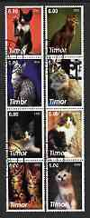 Timor 2003 Domestic Cats perf set of 8 cto used