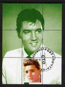 Laos 2000 Elvis Presley perf deluxe sheet #03 (green background) cto used