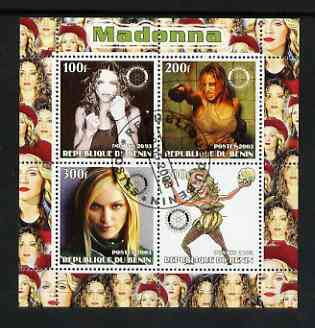 Benin 2003 Madonna #1 perf sheetlet containing set of 4 values each with Rotary International Logo cto used