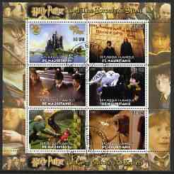 Mauritania 2003 Harry Potter (The Sorcerers Stone & Chamber of Secrets) perf sheetlet containing set of 6 values cto used