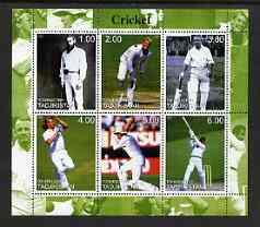 Tadjikistan 2000 Cricket perf sheetlet containing 6 values unmounted mint